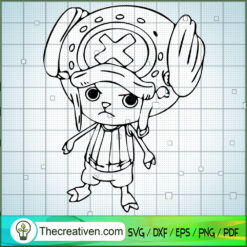 Tony Tony Chopper Monogram SVG, One Piece SVG, Anime Cartoon SVG