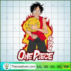 One Piece Monkey D.Luffy SVG, One Piece SVG, Anime Cartoon SVG