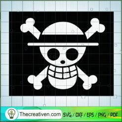 One Piece Skull Logo SVG, One Piece SVG, Anime Cartoon SVG