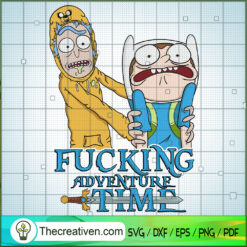 Fucking Adventure Time SVG, Rick and Morty SVG , Cartoon Movie SVG