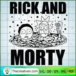 Rick And Morty Black White SVG, Rick and Morty SVG , Cartoon Movie SVG