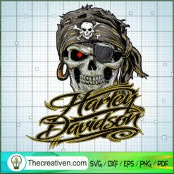 Harley Davidson Pirates Skull SVG, Harley Davidson SVG, Legendary Motorcyles SVG