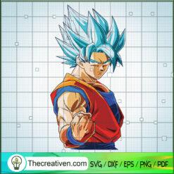 Songoku Supper Saiyan Blue Punch SVG, Goku SVG, Dragon Ball Z SVG