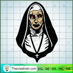 The Nun SVG, Horror Characters SVG, Halloween SVG
