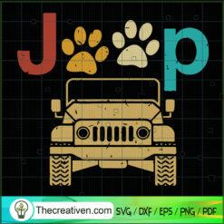 Jeep Dog SVG, Jeep Car SVG, Jeep SVG, Pet Lover SVG