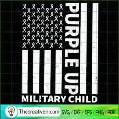Purple Up Military Child SVG, Army SVG, USA Flag SVG