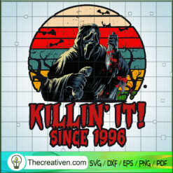 Killin' It Since 1996 SVG, Ghostface SVG, Scream Ghost SVG