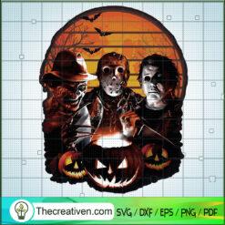 Horror Characters SVG, Freddy SVG, Jason SVG, Michael SVG, Horror SVG