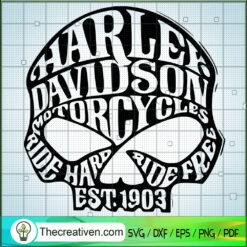 Skull Harley-Davidson SVG, Skull Logo SVG, Motocyles SVG