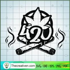 420 Logo SVG, Cannabis SVG, Smoking Weed SVG