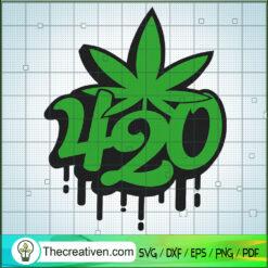 420 Green SVG, Cannabis SVG, 420 SVG
