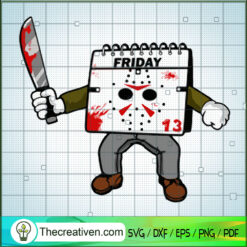 Jason Voorhees Friday 13 SVG, Horror Characters SVG, Halloween SVG