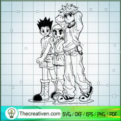 Friend Hunter x Hunter SVG, Hunter x Hunter SVG, Anime Cartoon SVG