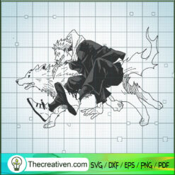 Yuji Itadori And Divine Dogs SVG, Jujutsu Kaisen SVG, Anime Japan SVG