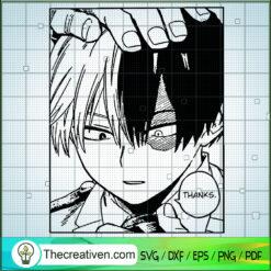 Todoroki Shouto My Hero Academia SVG, Todoroki Shouto SVG, Anime SVG