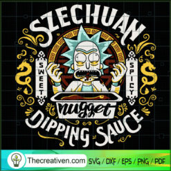 Szecguan Nugget Dipping Sauce SVG, Rick And Morty SVG, Scary Rick SVG
