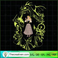 Disney Sleeping Beauty SVG, Disney Princess SVG, Maleficent Dragon SVG