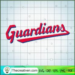 Indian Baseball Team Guardian Logo SVG, Baseball Team SVG, Indian Sport Team SVG