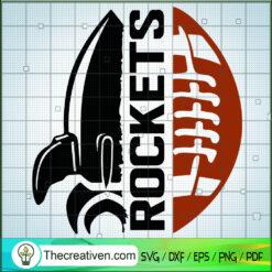Rockets Rugby SVG, Rugby Ball Half SVG, Sports SVG