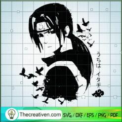 Uchiha Itachi SVG, Naruto SVG, Anime Japan SVG