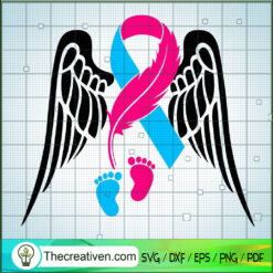 Infant Loss SVG, Cancer Awareness SVG, Baby Feet SVG