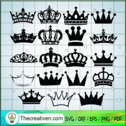 Crown Bundle SVG, King Crown SVG, Queen Crown SVG