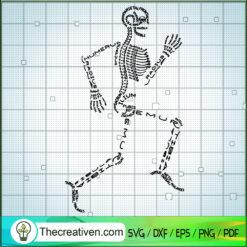 Skeleton Running SVG, Skeleton Words SVG, Running SVG