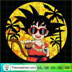 Goku Chill Vibes SVG, Goku Summer Time SVG, Dragon Ball SVG