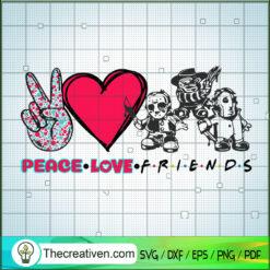Peace Love Friends Horror SVG, Friends Horror Movie SVG, Horror Halloween SVG