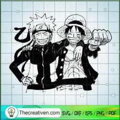 Naruto And Luffy SVG, Friends Anime SVG, Naruto SVG, One Piece SVG