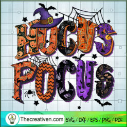Hocus Pocus Spider Web SVG, Hocus Pocus Witch SVG, Halloween SVG