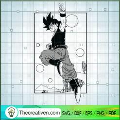 Hi I Am Goku SVG, Goku SVG, Dragon Ball Z SVG