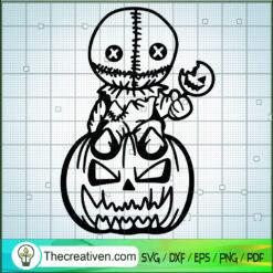Sam With Pumpkin SVG, Sam Trick Or Treat SVG, Halloween SVG