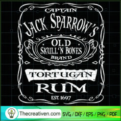 Tortugan Rum SVG, Rum SVG, Captain Jack Sparrow's SVG