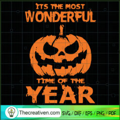 It's The Most Wonderful Time of The Year SVG, Pumpkin SVG, Halloween SVG