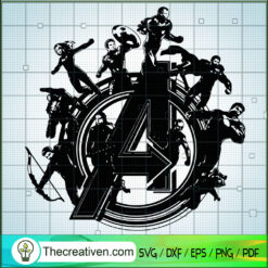 Avengers Characters Logo SVG, Avengers Characters SVG, Marvel SVG