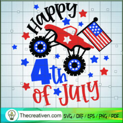 Happy 4th of July Truck SVG, 4th of July SVG, Patriot Day SVG