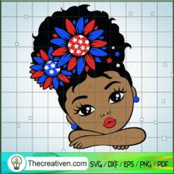 Black Girl 4th of July SVG, Black Girl SVG, Patriot Day SVG