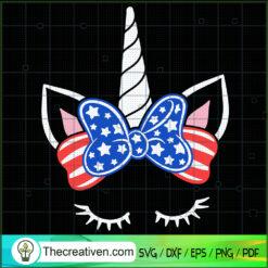 Unicorn 4th of July SVG, Unicorn SVG, Patriot Day SVG