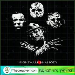 Nightmare Rhapsody SVG, Horror Characters SVG, Halloween SVG
