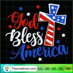 God Bless America SVG, 4th of July SVG, Patriot Day SVG