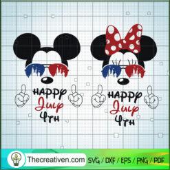 Happy July 4th SVG, Mickey And Minnie SVG, Disney 4th of July SVG