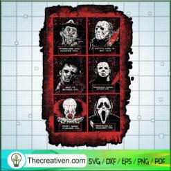 Horror Characters Bundle SVG, Horror Movie SVG, Halloween SVG, Blood SVG
