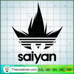 Saiyan Hair Adidas SVG, Adidas Brand SVG, Dragon Ball Goku SVG