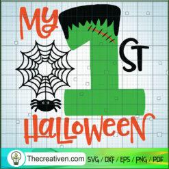 My 1st Halloween SVG, Halloween Frenkiestein SVG, Halloween SVG