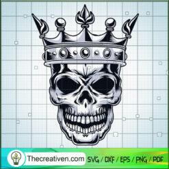 King Skull SVG, Scary Skull SVG, King SVG