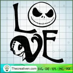 Jack Love Sally SVG, The Nightmare Before Christmas SVG, Halloween SVG