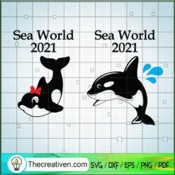 Sea World 2021 SVG, Dolphin SVG, Dolphin Mickey And Minnie SVG