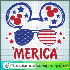 Mickey Merica SVG, 4th of July SVG, USA Flag SVG