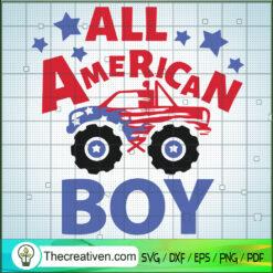 All American Boy SVG, Truck Race SVG, American SVG